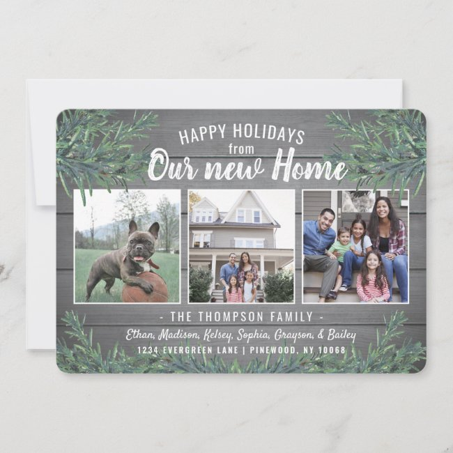 Holiday Moving and New Home Announcement Cards