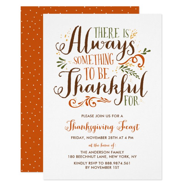 Thanksgiving Invitation Templates