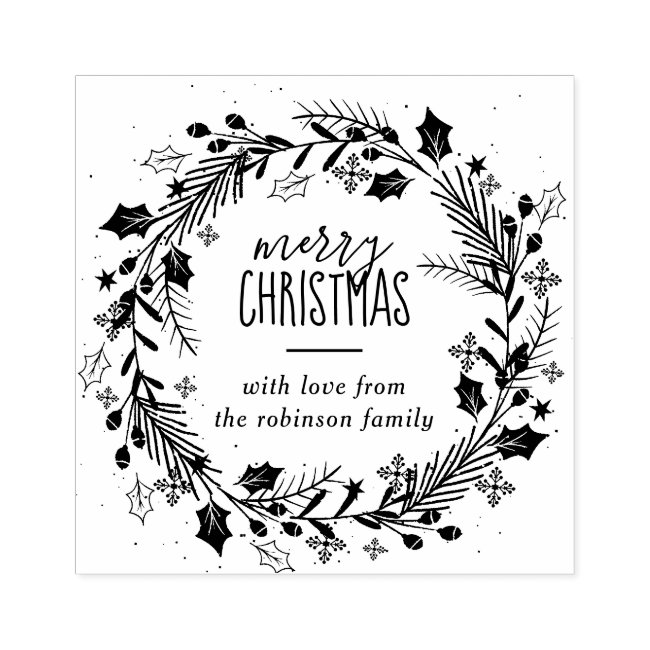 Personalized Christmas Rubber Stamps