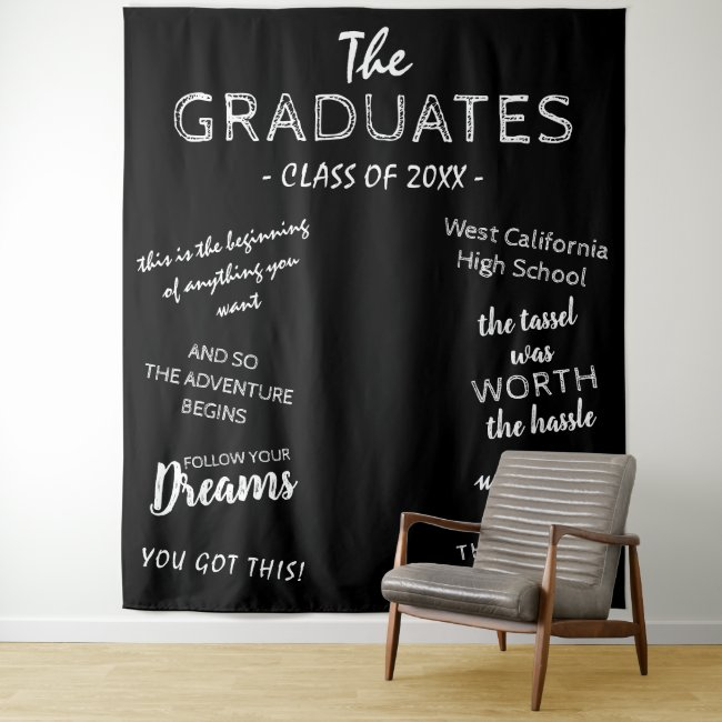 Personalized Graduation Tapestries Photo Backdrops
