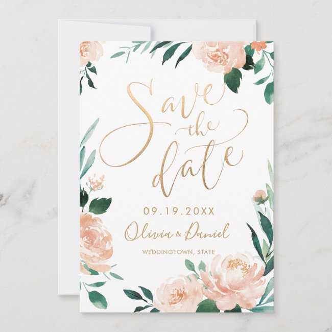 Floral Wedding Save the Date Card Templates