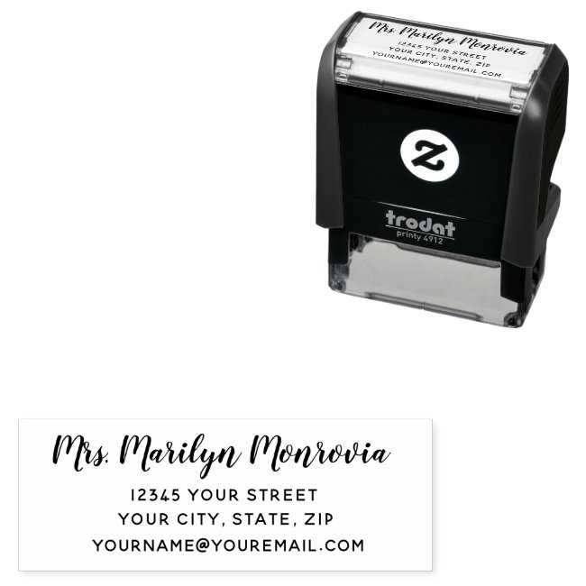 Personalized Return Address Self Inking
