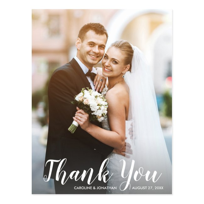 Wedding Thank You Photo Postcards