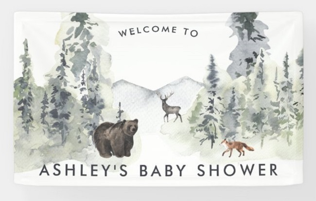 Personalized Welcome Baby Shower Banners