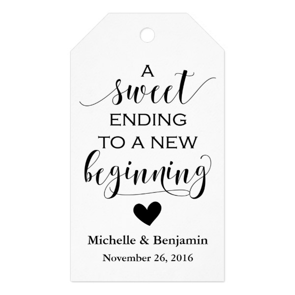Engagement Party Gift Tags