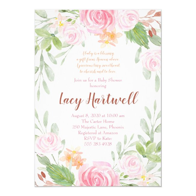 Floral Baby Shower Invitation Templates
