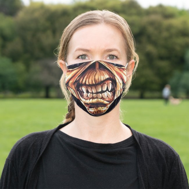 Cool Heavy Metal Zombie Scary Teeth Monster Skull Cloth Face Mask