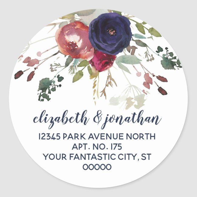 Custom Wedding Return Address Stickers
