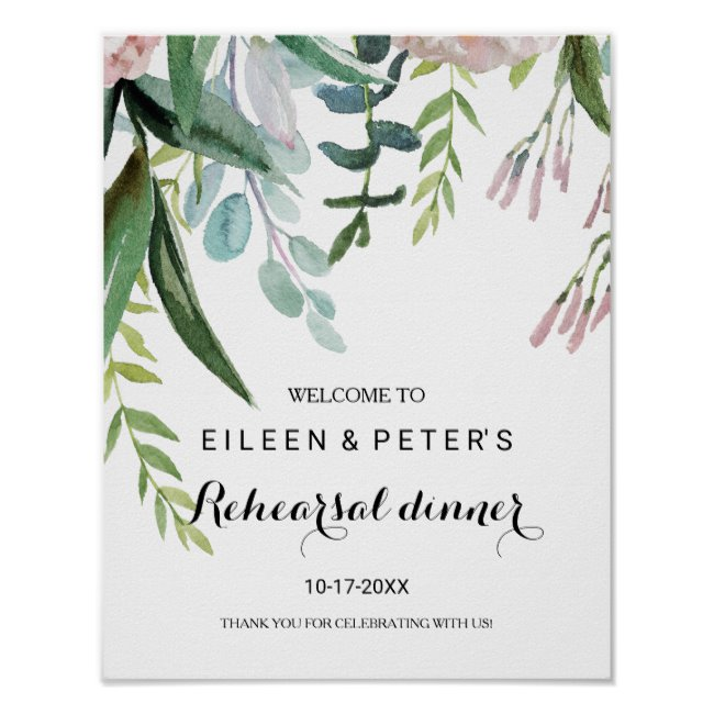 Rehearsal Dinner Welcome Poster Templates