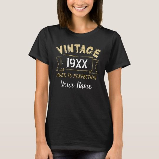 Personalised Vintage 19xx Aged to Perfection Birthday Shirts